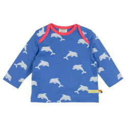 loud and proud Shirt langarm Delfin blau