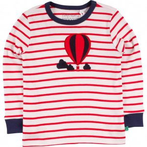 Fred's World Balloon Stripe T Cream Red