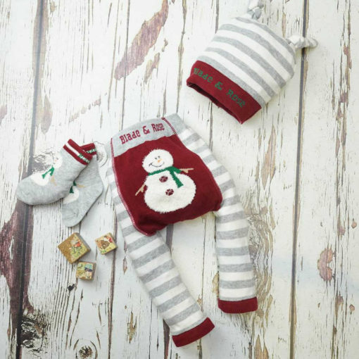 Blade and Rose Snowman Fluffy Christmas Leggings