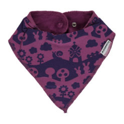 Maxomorra Bib Dribble Purple Landscape