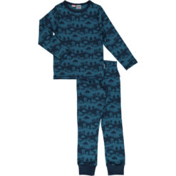 Maxomorra Pyjama Set Blue Landscape