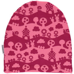 Maxomorra Hat Velour Pink Landscape
