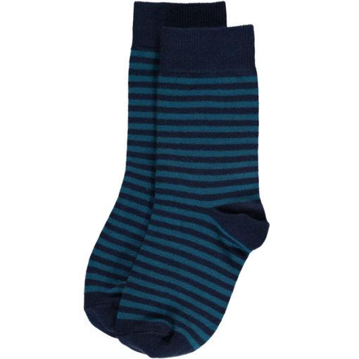 Maxomorra Socks Blue Stripes