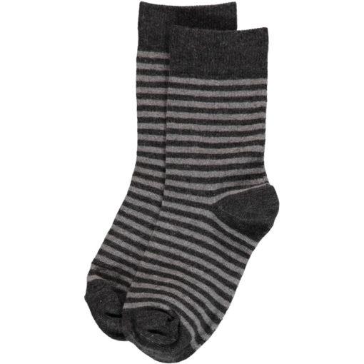 Maxomorra Socks Grey Stripes