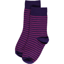 Maxomorra Socks Purple Stripes
