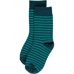 Maxomorra Socks Turquoise Stripes