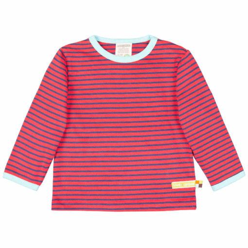 loud + proud Shirt geringelt cayenne rot