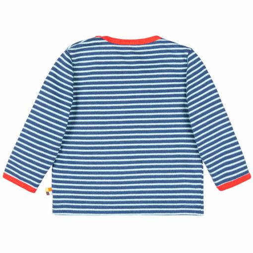 loud + proud Shirt geringelt ultramarin blau