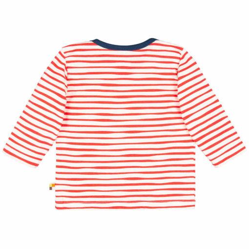 loud + proud Shirt Streifen cayenne rot