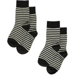 Maxomorra Socks Stripes Black