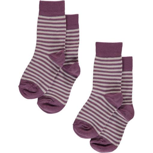 Maxomorra Socken Lila Streifen