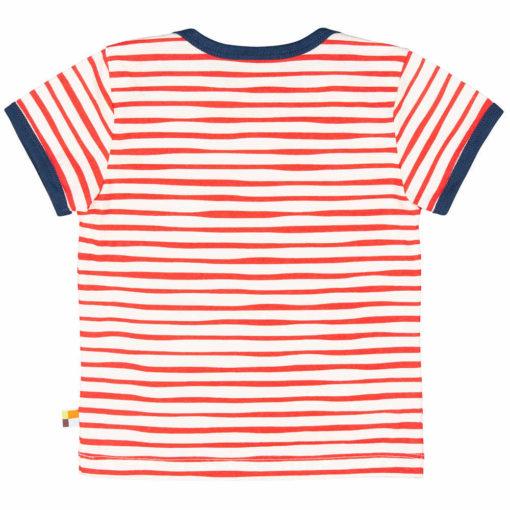 loud + proud T-Shirt Streifen cayenne rot