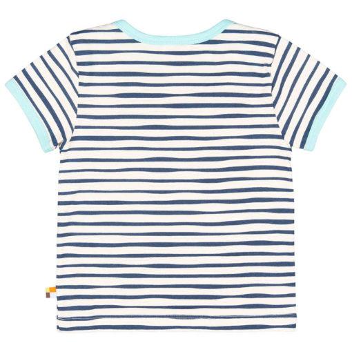 loud + proud T-Shirt Streifen ultramarin blau