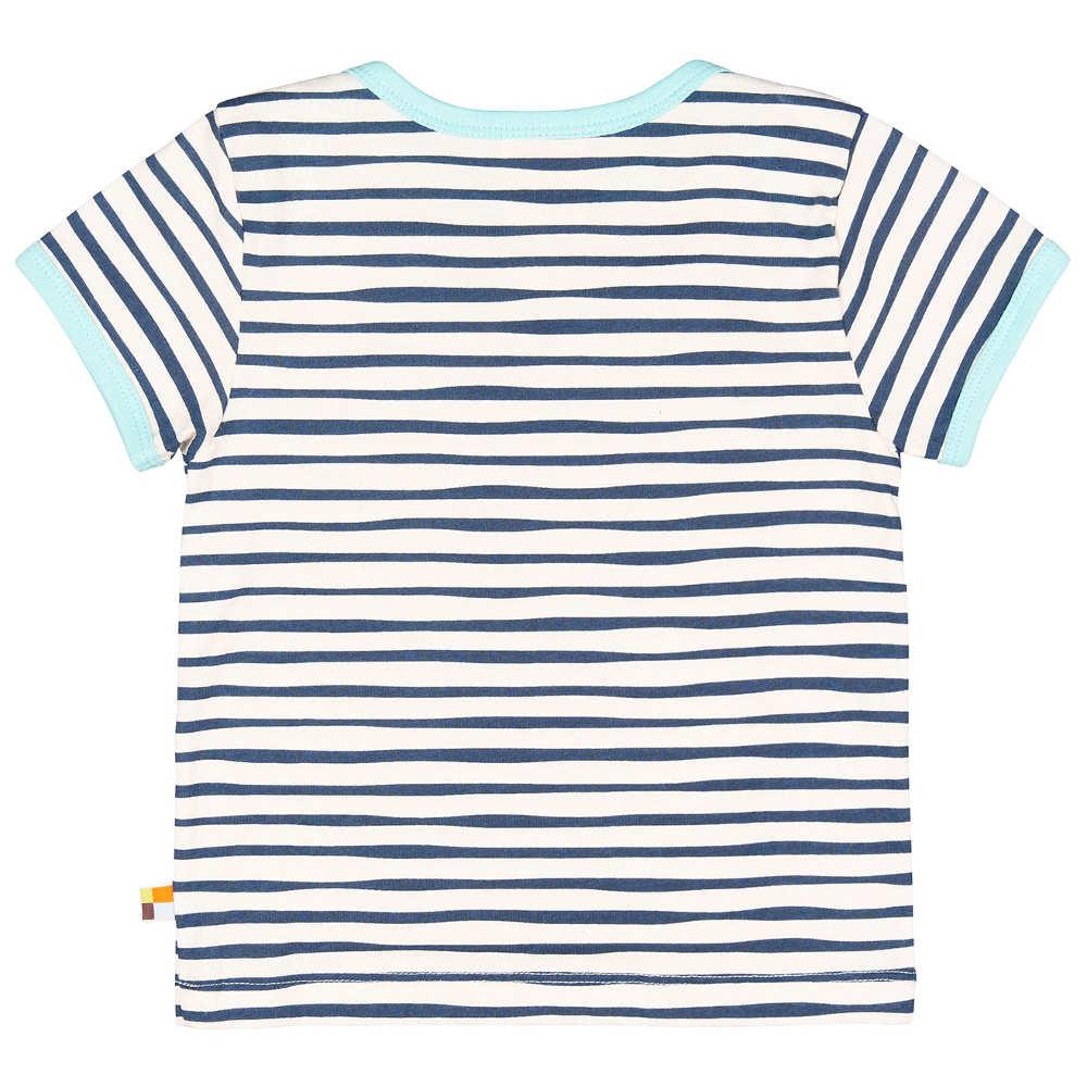 a35bf4c93 loud + proud T-Shirt Streifen ultramarin blau
