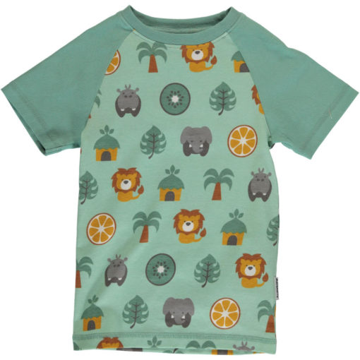Maxomorra Shirt Slim Top SS Jungle