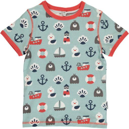 Maxomorra Shirt Top SS Blue Ocean